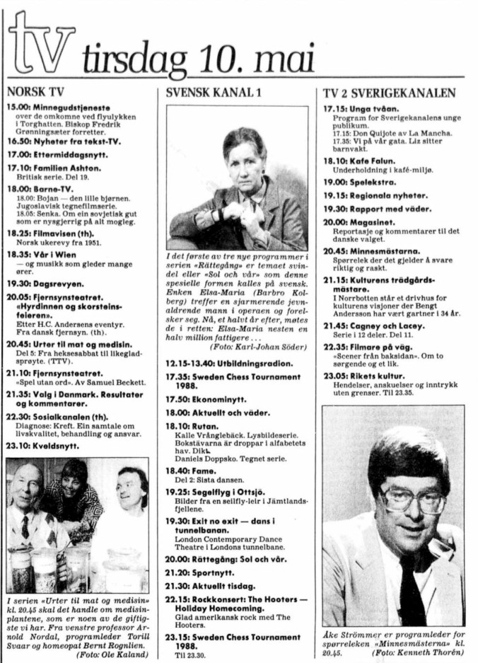 TV prg 10 mai 1988
