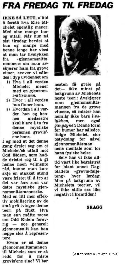 Else Michelet - Skagg om Michelet apr 1980