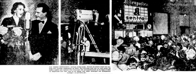 NRK Tv på radio 12 nov 1955