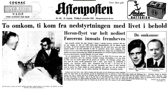 NRK ulykken aft posten forside
