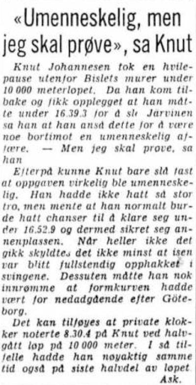 1959 Skøyter Bislet VM Kuppern