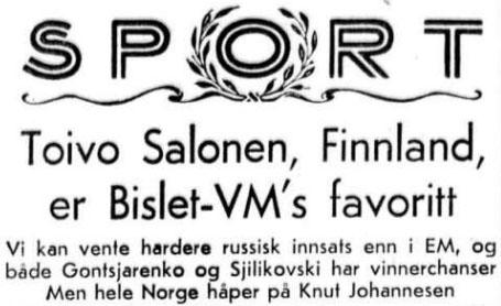 1959 Skøyter på forhånd tor 12 feb