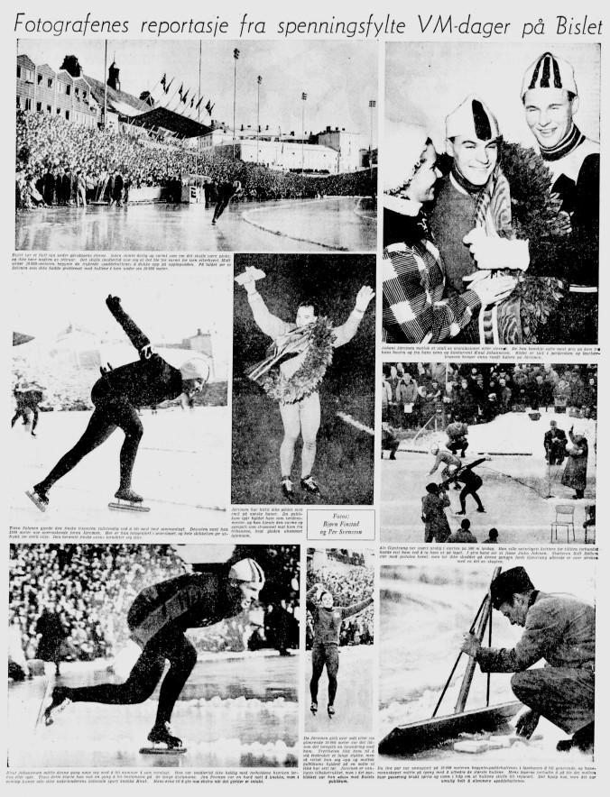 1959 Skøyter VM  Bislet fotospesial