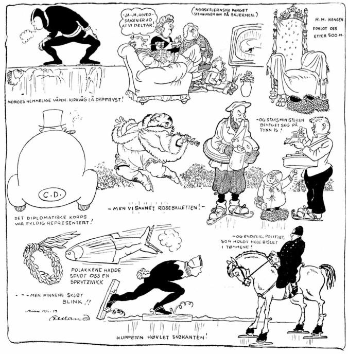 1959 Skøyter VM  Bislet tegnespesial