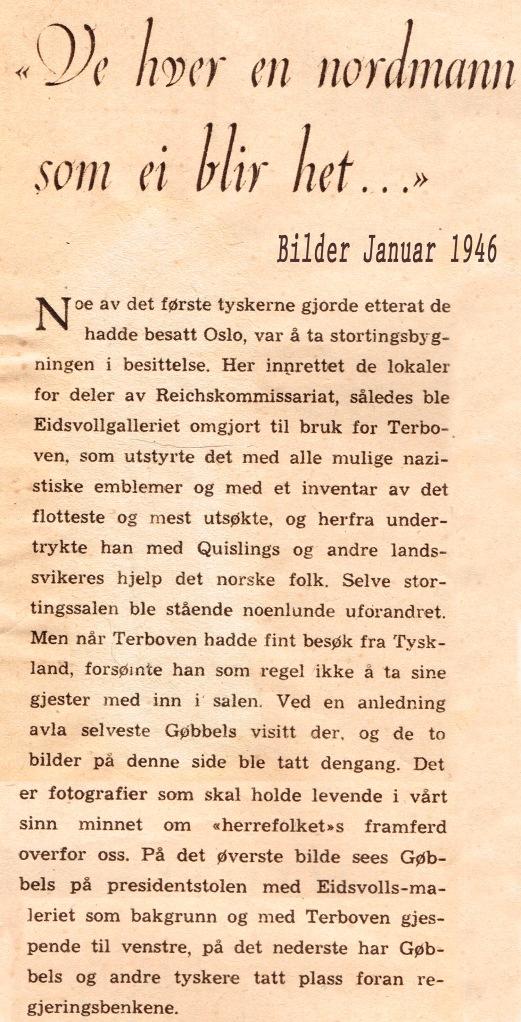 Goebbels Norge tekst