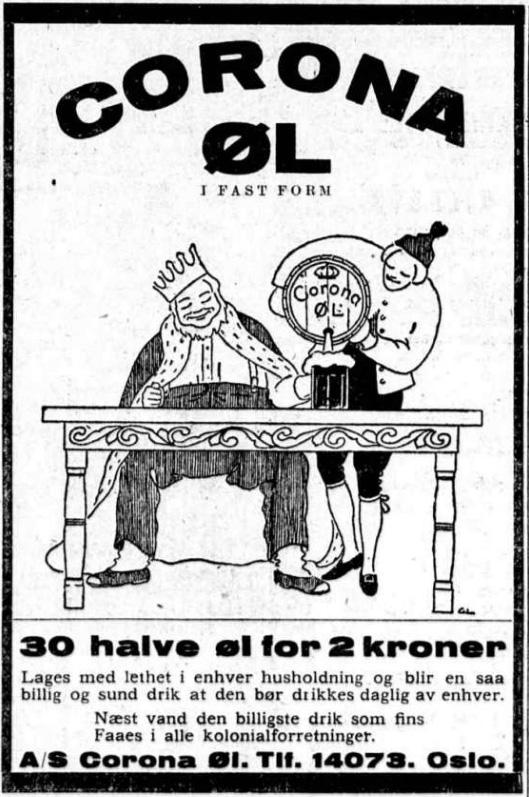 Reklame Corona 6 juni 1925