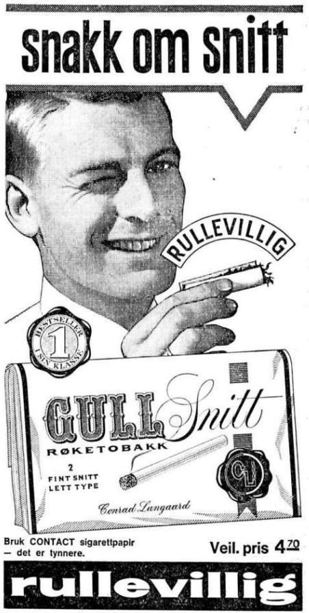 Reklame Gull Snitt Rullevillig 06 mai 1965