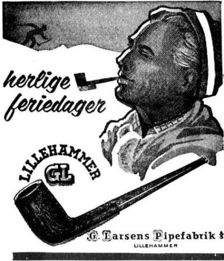 Reklame herlige feriedager med G larsen pipefabrikk 06 apr 1963