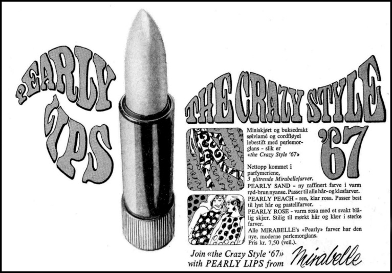 Reklame Pearly Lips 1967 1906