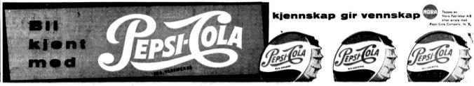 Reklame Pepsi aug 1956
