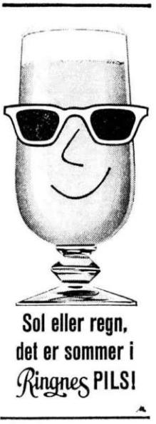 Reklame Ringnes Pils juli 1965
