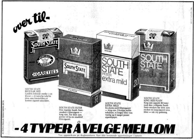 Reklame South State 1974