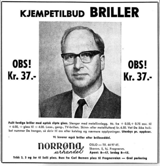 1970 0602 briller annonse