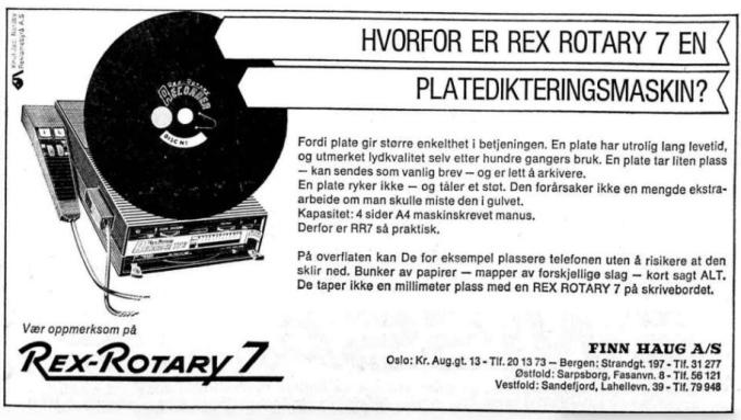 1970 2701 Platedikteringsmaskin annonse