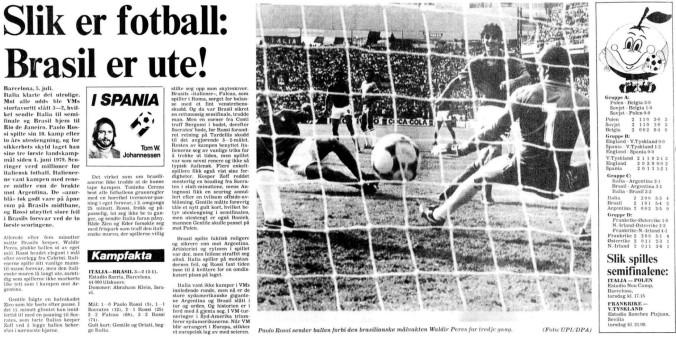 1982 Brasil ut av VM