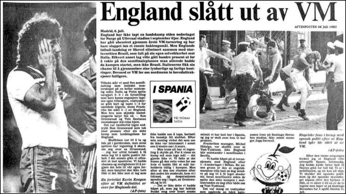 1982 England ut av VM