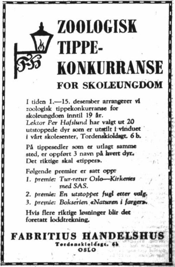 Per Hafslund konkuranse 3 des 1963