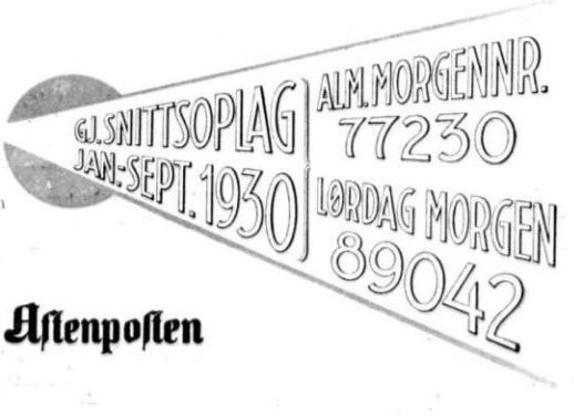 Sigurd Hoel aftenposten opplag
