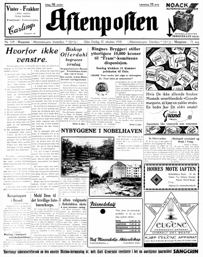 sigurd hoel aftenposten_1930-10-10(2)-1
