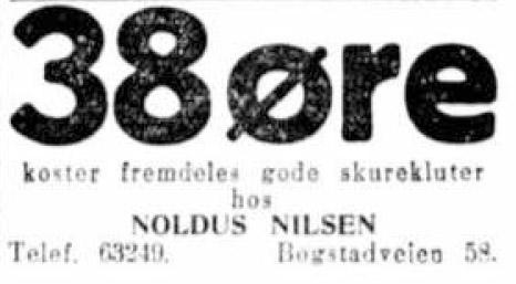 Sigurd hoel annonse 38 øre