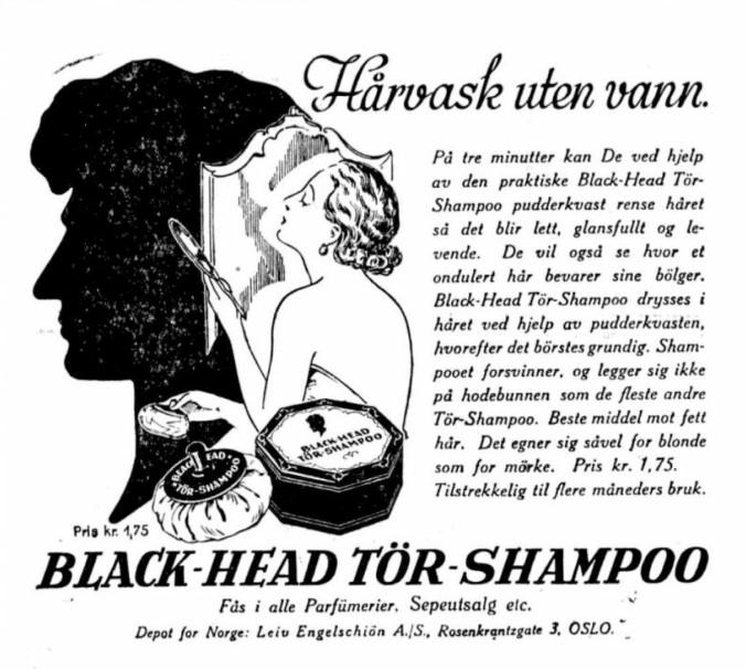 Sigurd Hoel annonse hårvask
