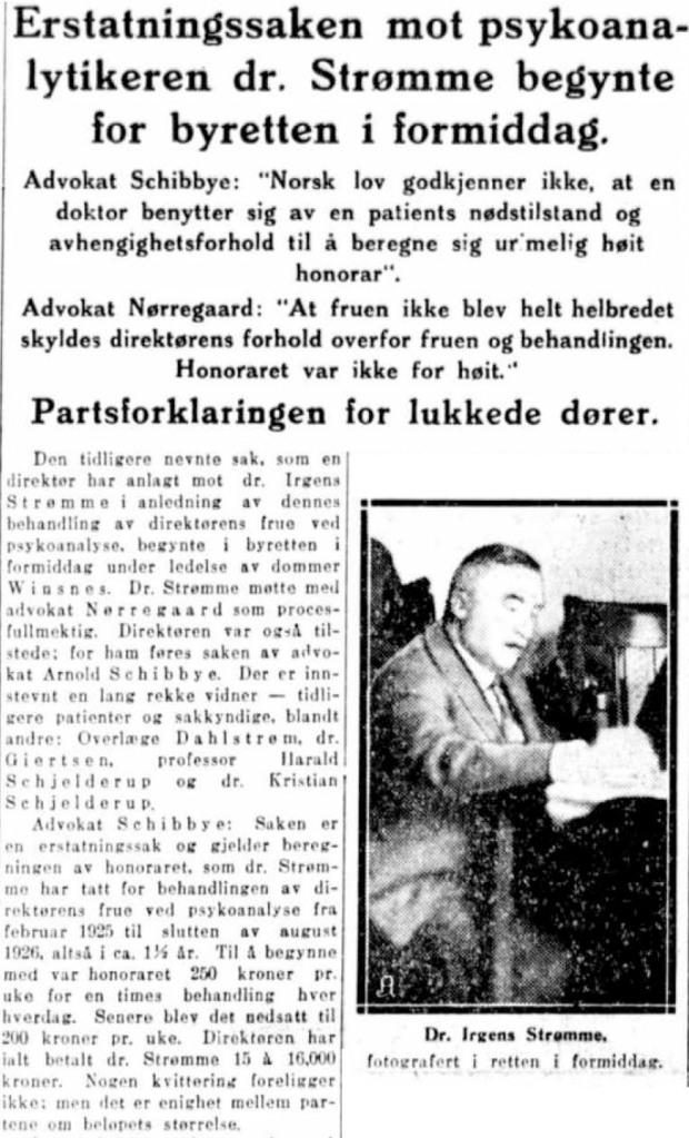 Sigurd Hoel en dag aft psykoanalytiker