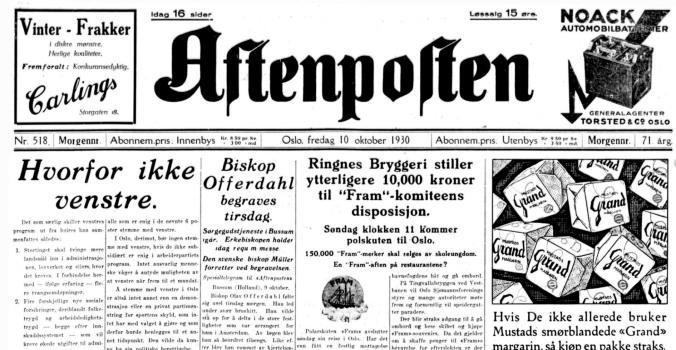 Sigurd Hoel en dag i oktober Aftenposten 10 10 30