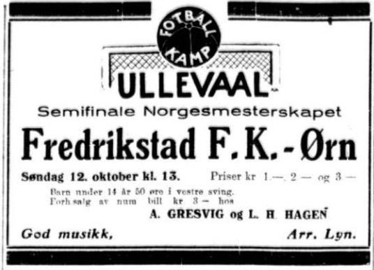 Sigurd Hoel fotballannonse