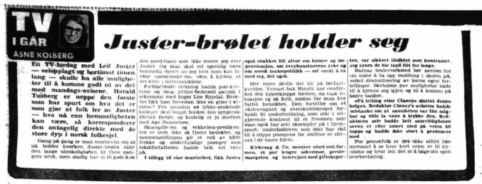 Tv prg 13 nov 1976 anmeldelse