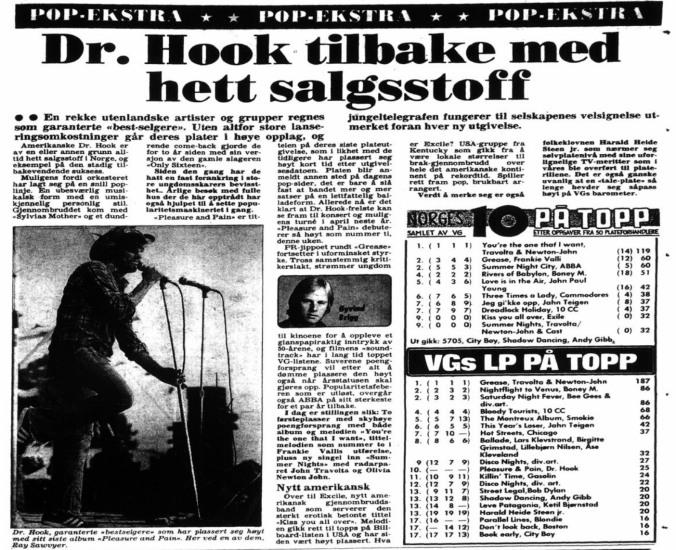 VG 10 på topp 24 okt 1978