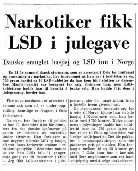 1970 1301 Narkotika i julepresang