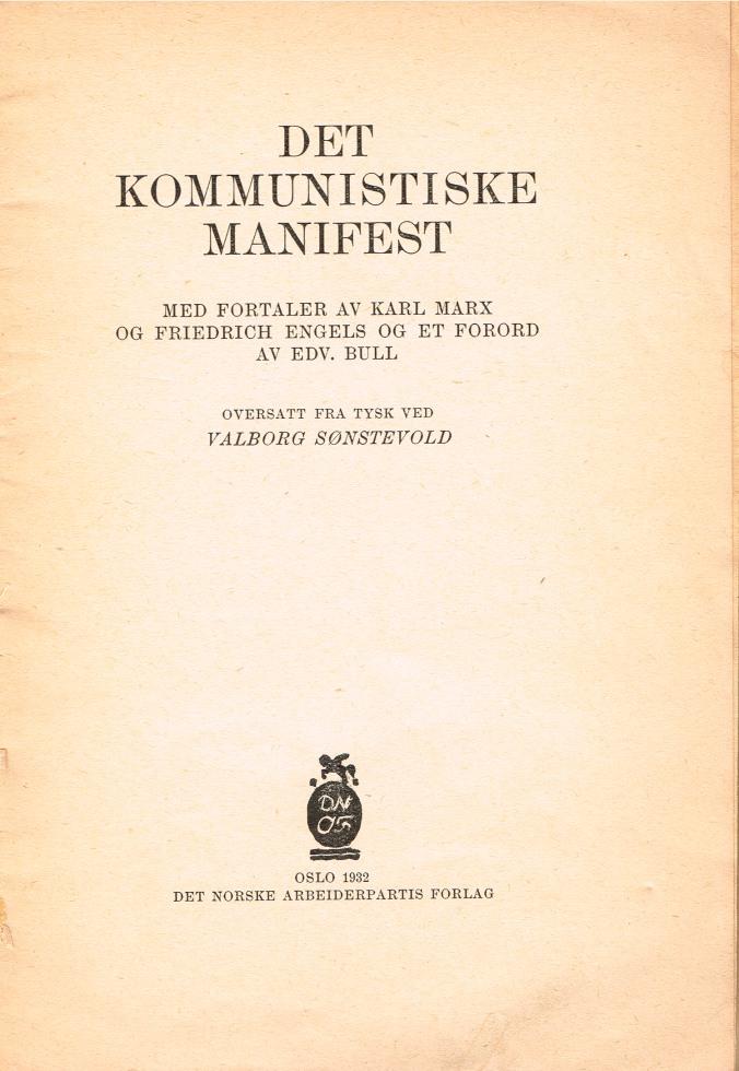 Det Kommunistiske Manifest innhold mini