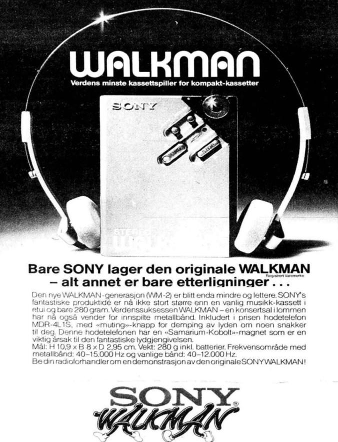 1981 04 22 Walkman reklame 2