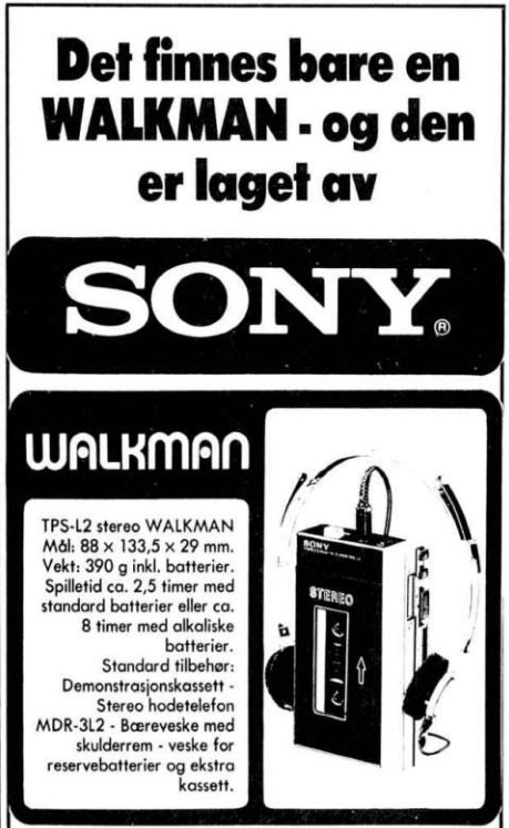 1981 04 22 Walkman reklame 3