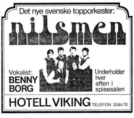 The Nilsmen aftenposten 22 mai 1968