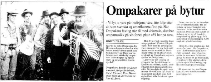 Ompakara Aftenposten 250990
