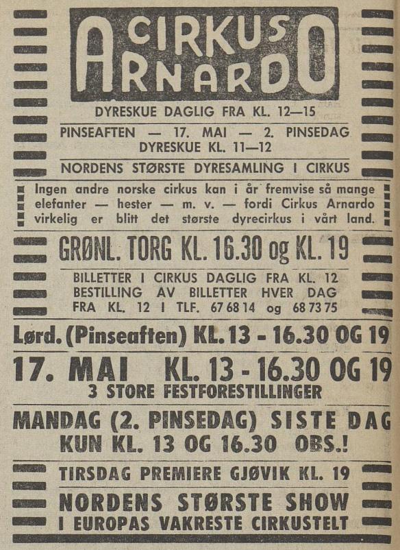 Aftenposten 051670 Arnardo