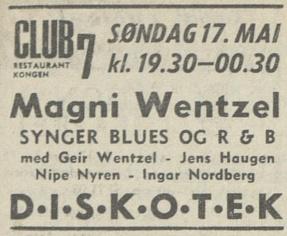 Aftenposten 051670 Club 7