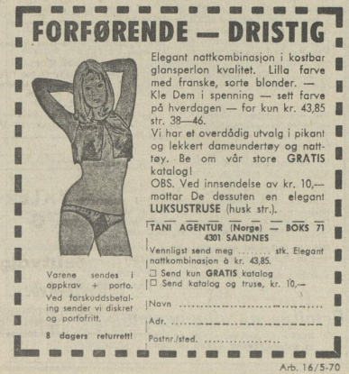 Aftenposten 051670 Erotikk