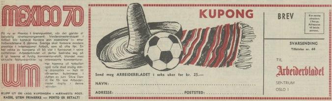 Aftenposten 051670 Fotball VM 2