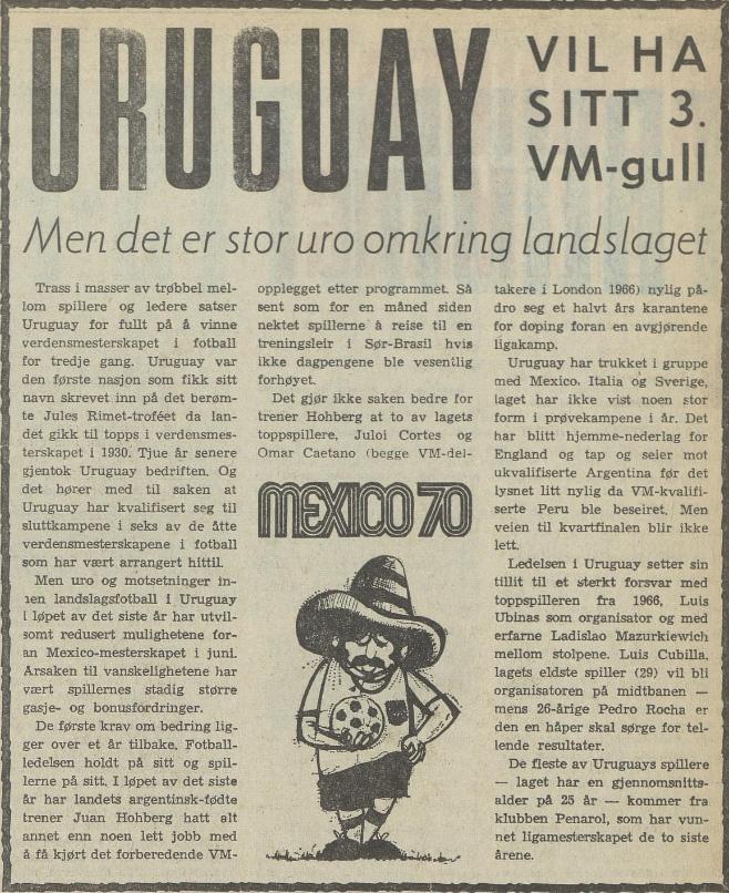 Aftenposten 051670 Fotball VM