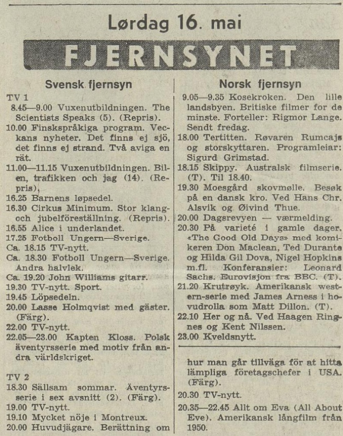 Aftenposten 051670 TV prg