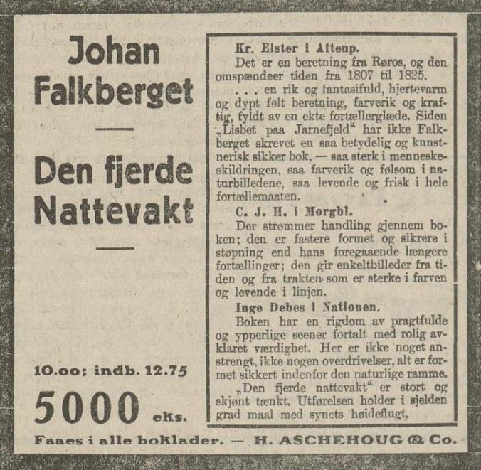 Annonse 1923 Arbeiderbladet