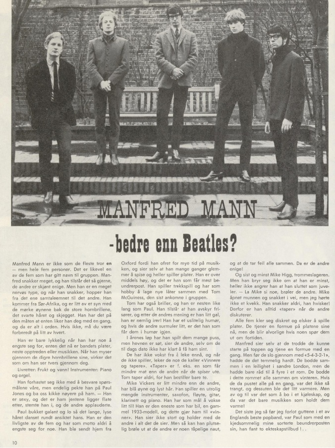 Pop Nytt Manfred Mann intervju nr 1 65
