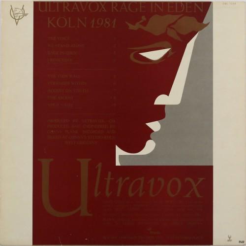 Ultravox - Rage in Eden cover 2